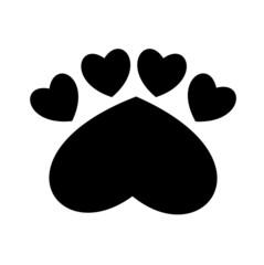 Paw Print heart illustration