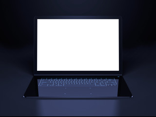 futuristic laptop presentation