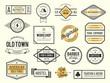 set of vintage logos, badges and labels, vector illustration - 79260530