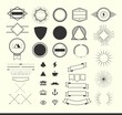 set of vintage elements for making logos, badges and labels