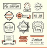 Fototapety set of vintage logos, badges and labels
