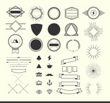 set of vintage elements for making logos, badges and labels poster