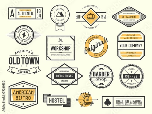 Fototapeta set of vintage logos, badges and labels, vector illustration