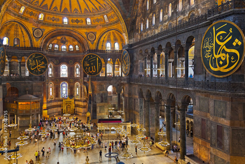 Poster Hagia Sophia interior at Istanbul Turkey