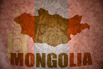 mongolia vintage map