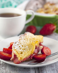 Baked french toast with strawberry