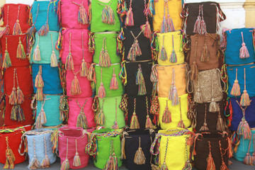 Wayuu aboriginal bags from colombia
