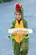Purim Jewish Holiday - Child carry Mishloach Manot