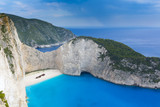 Navagio beach in Zakynthos island, Greece