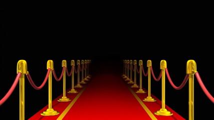 Red Carpet Walkway Loop Background