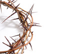 Fototapety A crown of thorns on a white background - Easter. religion.