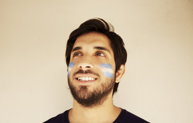 Man with Argentina Flags