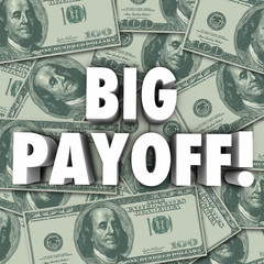 Big Payoff Money Jackpot Result Outcome Rewards Settlement