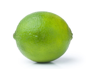 lime citrus fruit isolated on white background