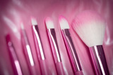 pink professional cosmetic brush poster