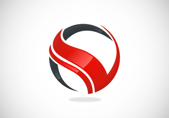 business technology letter V vector logo