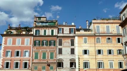 Homes Buildings In Trastevere Square Rome Roma Italy