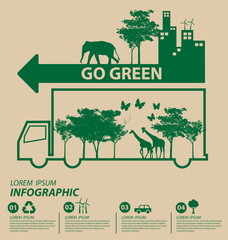Ecology concept. save world vector illustration.