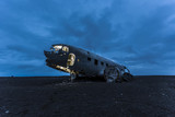The epic plane wreck on the black beach in south Iceland - 79267954