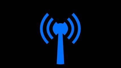Wifi wireless internet network net connection icon logo wi-fi w