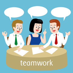 Teamwork Vector Design Illustration