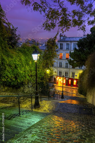 The historic district of Montmartre in Paris,France
