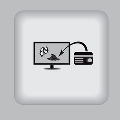 monitor, credit card, business, icon,  vector, illustration