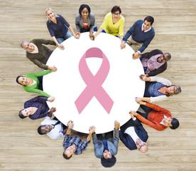 Pinkribbon Breastcancer Disease Awareness Organization Concept