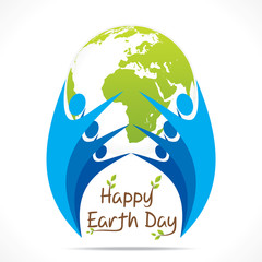 every people celebrate earth day design vector