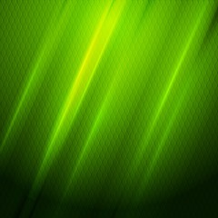 Green shiny hexagon texture background