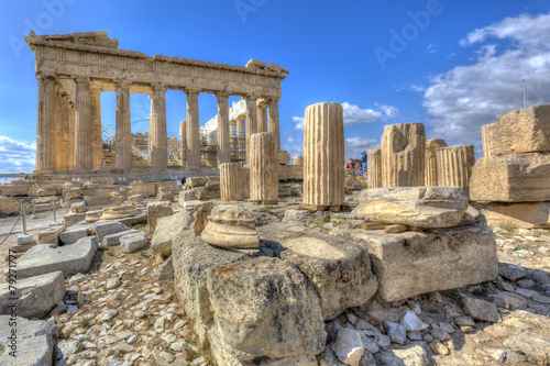 Aluminium Athene Parthenon temple on the Acropolis of Athens,Greece