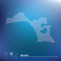 Map of Akrotiri