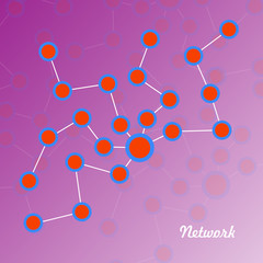 Network. Vector illustration. Eps 10