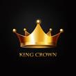 Gold Crown  on black - 79272547
