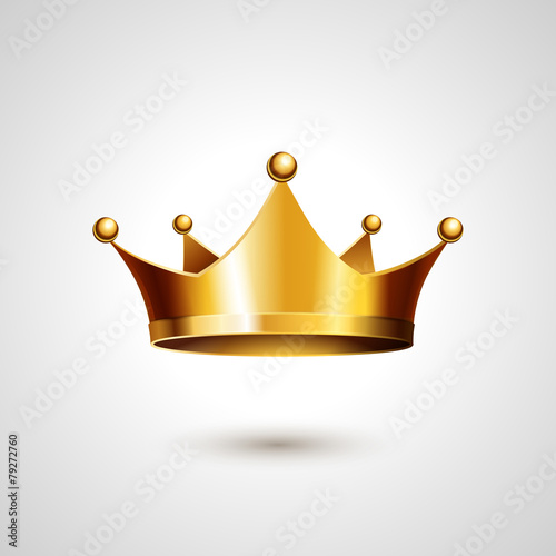 Gold Crown  Isolated On White Background - 79272760