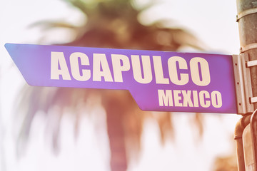 Acapulco Mexico Street Sign