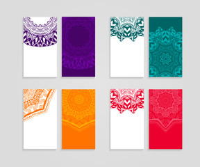 Ethnic business cards collection