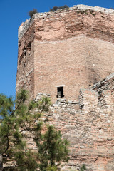 Tower in the City walls of Istanbul, Theodosius stone wall