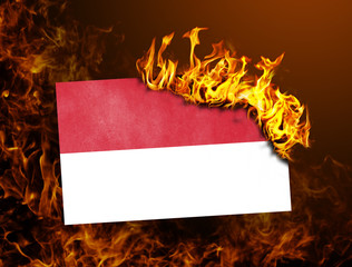 Flag burning - Monaco
