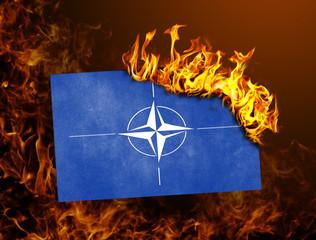Flag burning - NATO