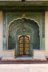 Green Gate in Pitam Niwas Chowk, Jaipur City Palace
