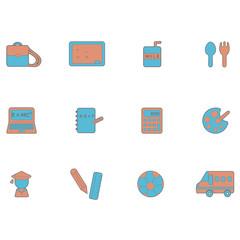 Education icons set / School icons set