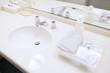 Leinwanddruck Bild - ホテルの洗面台