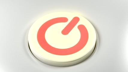 Power button switch turn on red orange