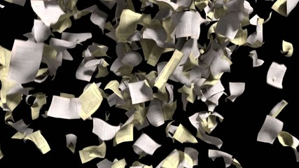 Pages falling white yellow paper book literature business school