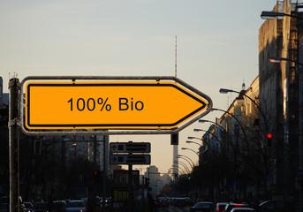Strassenschild 37 - 100% Bio