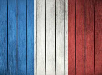 Wooden Flag Of France