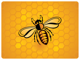 Bee, schematic icon