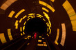 futuristic super speed traffic  blur motion in tunnel - 79279948