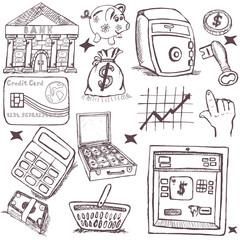 doodle money icons